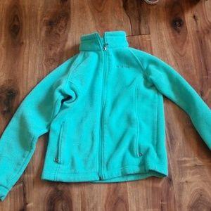 Columbia teal blue used condition fleece jacket